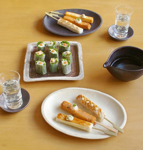 棒Sを日本酒と合わせたお家飲みスタイル。