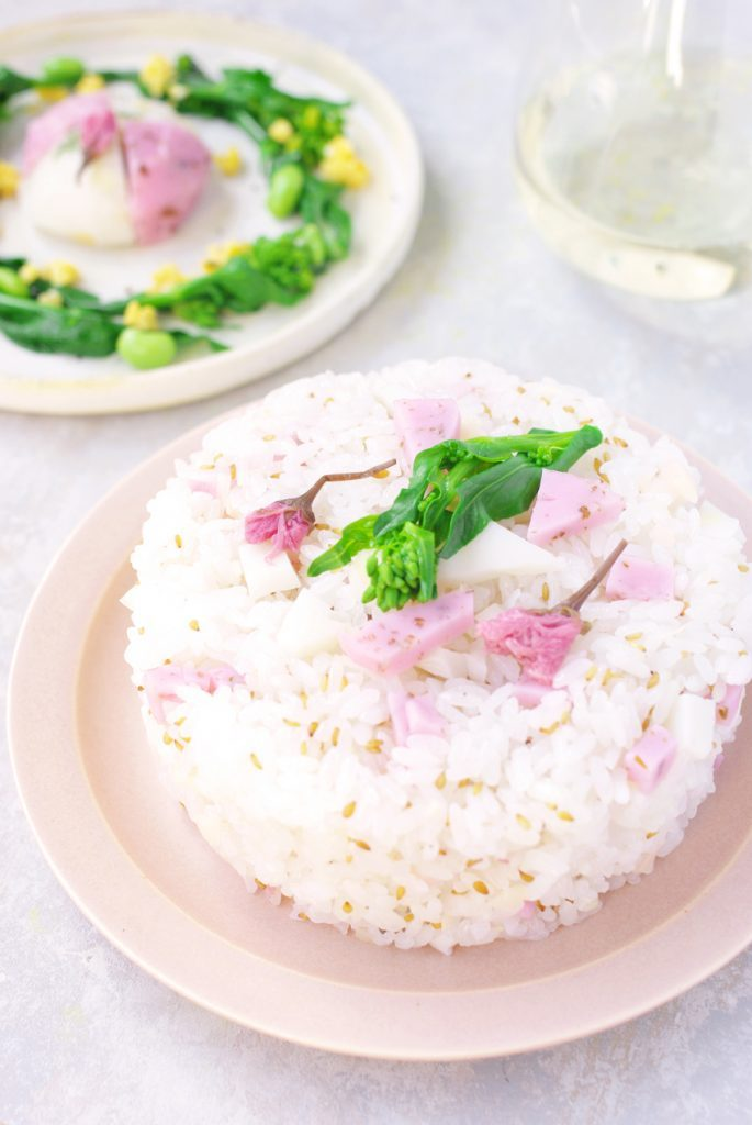 「春の野遊び」で桜寿司♪