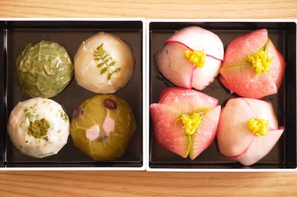 「春の野遊」と花手毬寿司