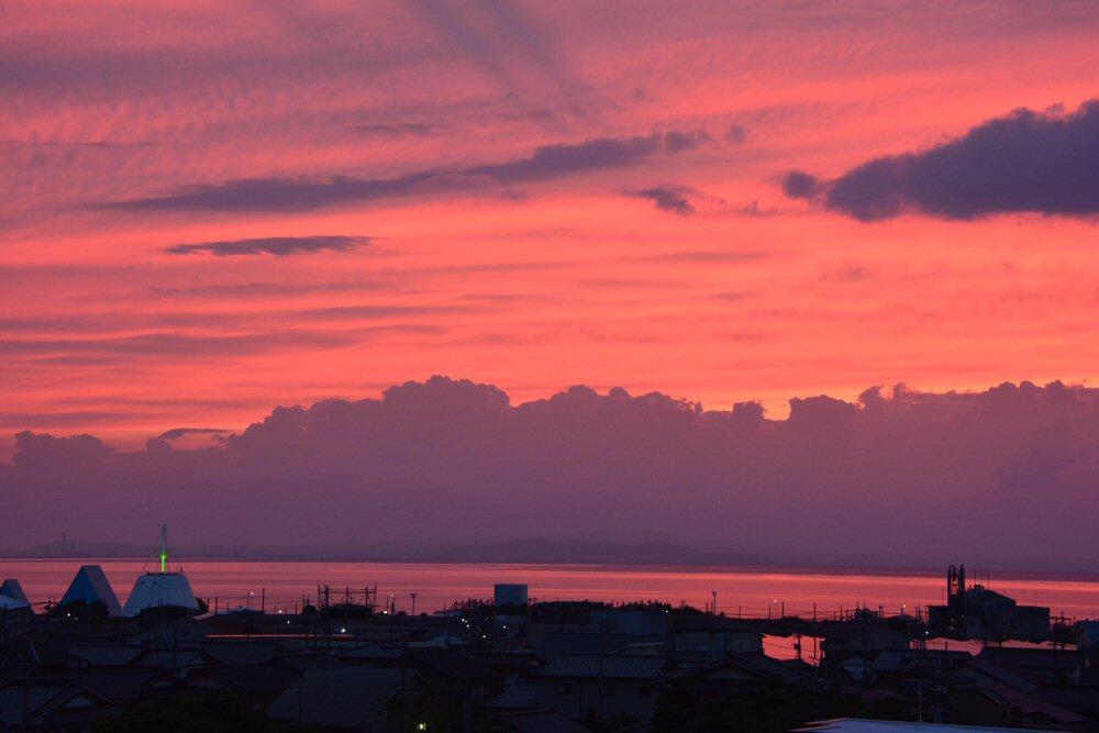 素晴らしい夕焼け!富山湾!