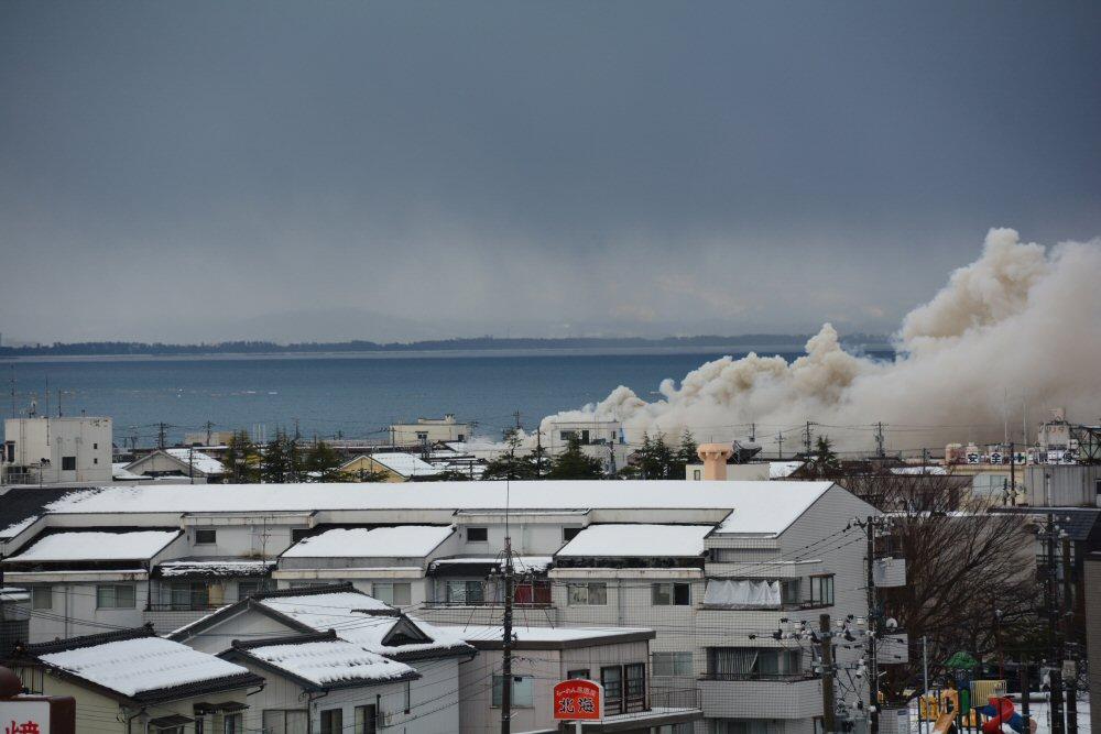 新年早々、魚津で火災発生!