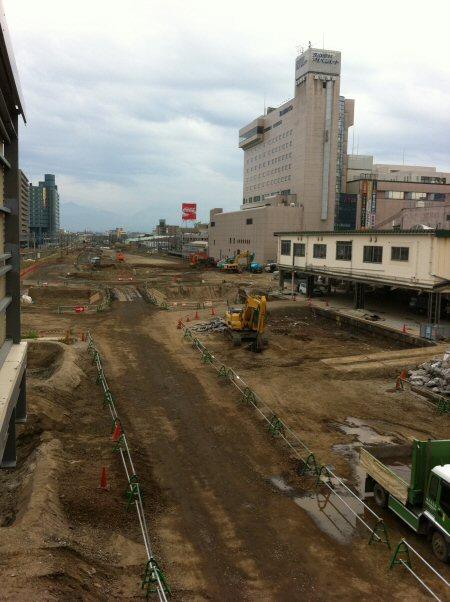 JR富山駅の進捗状況
