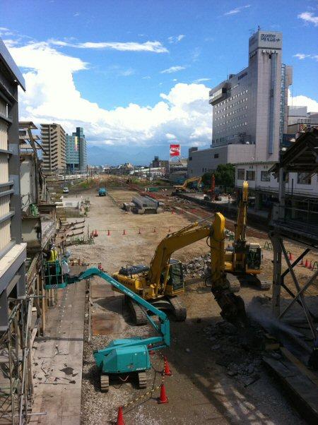 北陸新幹線、富山駅工事