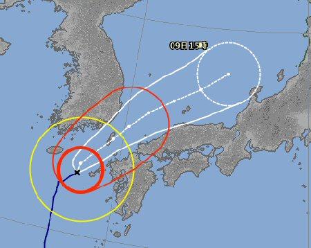 台風24号、日本海を北上!