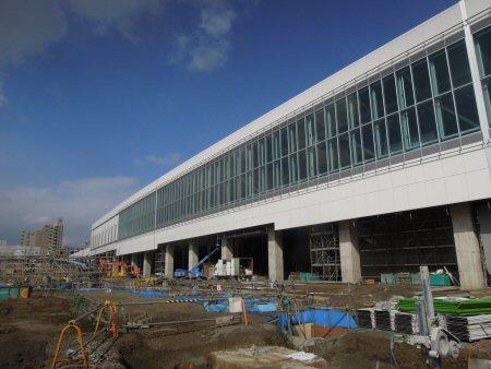 新富山駅は迫力あります!