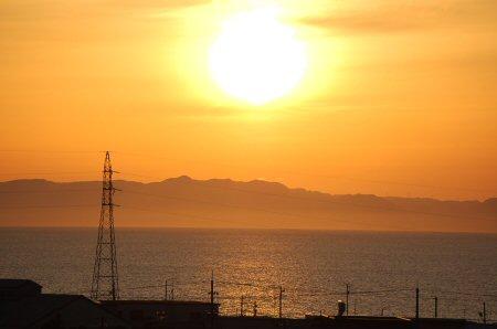 富山湾と夕陽と僧ヶ岳に癒されて・・・